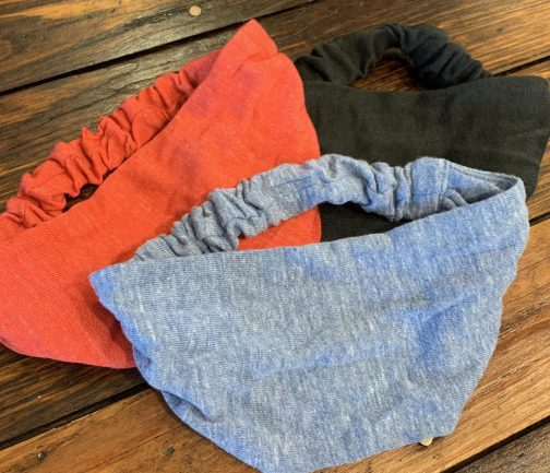 ECO Triblend Face Mask Royal Apparel available in black, red, and, royal.