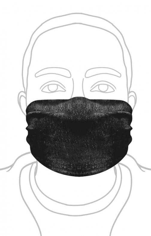 ECO Triblend Face Mask Royal Apparel in Black.