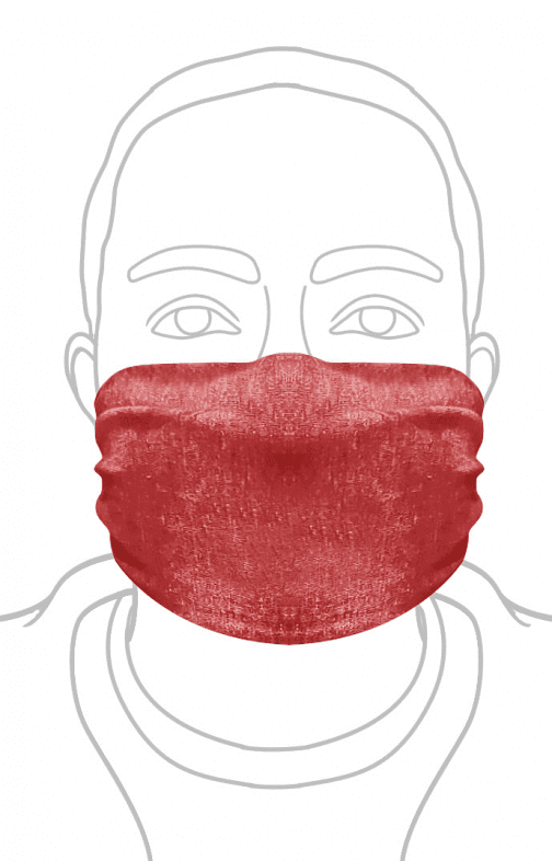 ECO Triblend Face Mask Royal Apparel in Red.