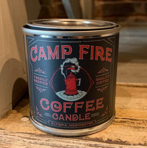 Half Pint Candles by Good & Well Supply Co. Campfire Coffee.
