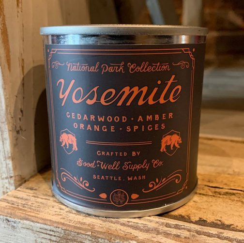 Half Pint Candles by Good & Well Supply Co. Yosemite.