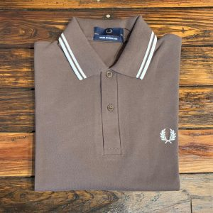 Fred Perry M12 Shirt Truffle Snow White