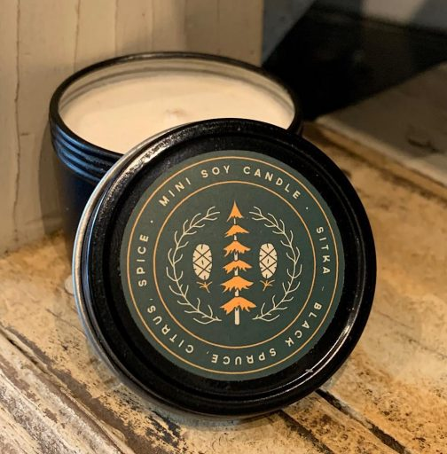 Good & Well Supply Co. Mini Travel Candles. Sitka.