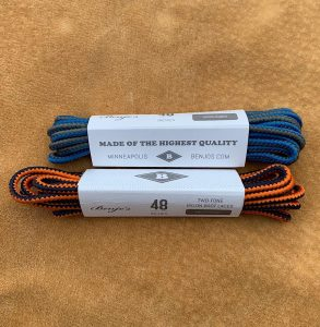 "Benjo's Nylon Boot Laces. In 48"" Length."