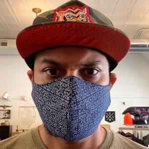 Batik Wide Face Mask