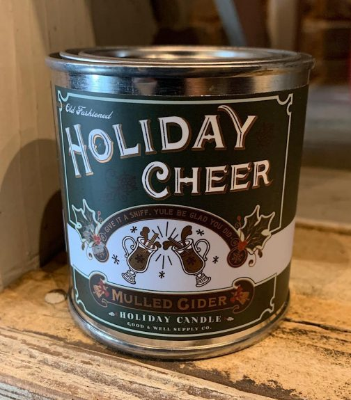 Half Pint Candles by Good & Well Supply Co. Holiday Cheer Chirstmas Edition.