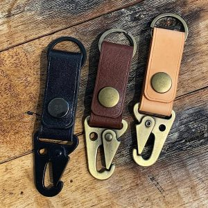 Leather Snap Hook Key Fob
