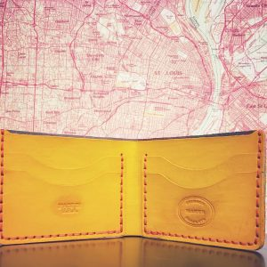 Hand Stained Bifold Wallet Assorted Colors