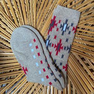 The Ampal Creative Heather Sunburst Socks Khaki