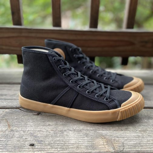Colchester Rubber Co. National Treasure Black Gum High Top Sneakers