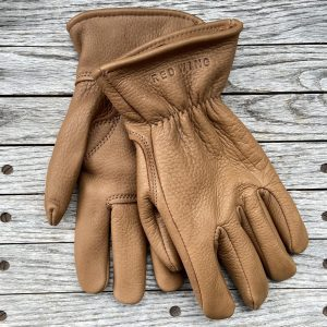Red Wing Heritage Lined Buckskin Gloves Nutmeg