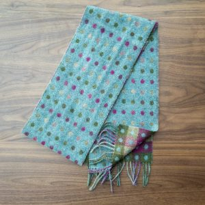 Teal Reversible Spots Scarf