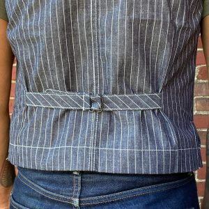 Nama Denim Indigo Striped Work Vest