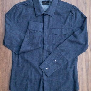 Stitch Note Hidden Pocket Solid Flannel