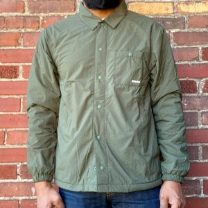 Gramicci Nylon Fleece Coaches Jacket Olive