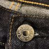 TCB Jeans Slim 50s Selvedge Denim Top Button View.