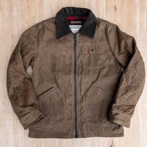 Schott NYC Waxed Cotton Chore Jacket 8934 Khaki