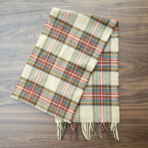 Antique Dress Stewart Tartan Scarf