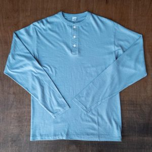 DubbleWorks Long Sleeve Henley Tee Airforce Blue