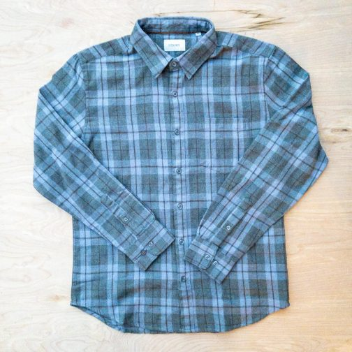 Stitch Note Hygge Charcoal Flannel Shirt