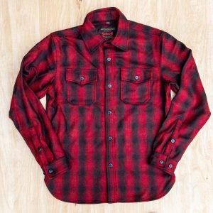 Schott NYC 7010P Plaid CPO Shirt Red