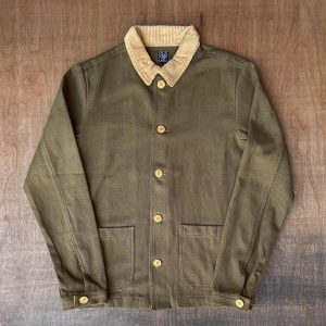 Wolf French Olive Green Chore Jacket