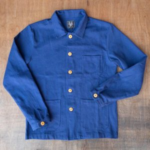 Wolf French Navy Chore Jacket