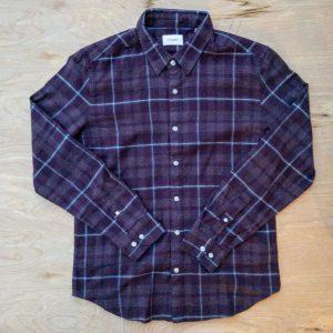 Stitch Note Village Stroll Purple Flannel Shirt