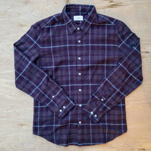 Stitch Note Village Stroll Purple Flannel Shirt
