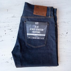 Kato The Pen Slim Jeans 14oz. Raw Stretch Selvedge