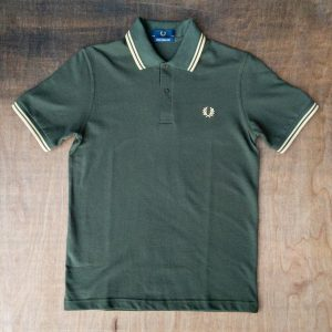 Fred Perry M12 Shirt Hunting Green Champagne