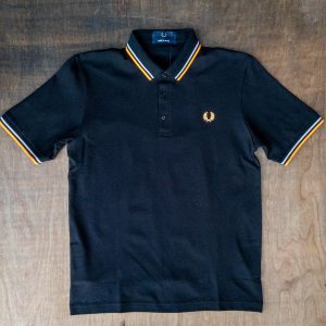 Fred Perry M102 Made in Japan Shirt Black Grey Orange