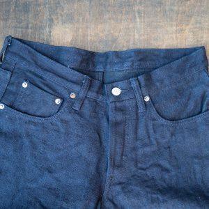 Burgus Plus 850-18 Indigo x Black Selvedge Jeans