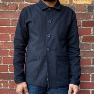 Wolf French Black Chore Jacket
