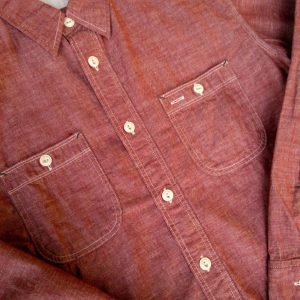 Burgus Plus Selvedge Red Chambray Work Shirt