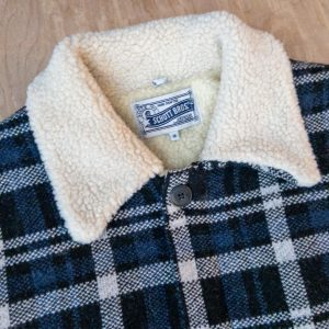 Schott NYC Sherpa-Lined Sweater Jacket F1957