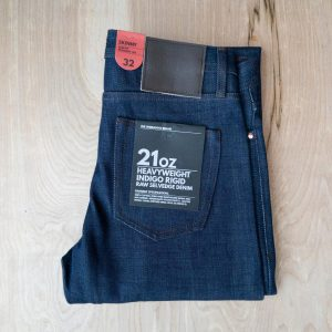 Unbranded UB121 skinny fit 21 oz. heavyweight indigo selvedge jeans