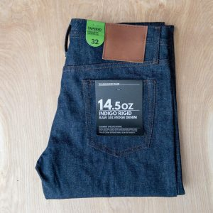 Unbranded UB201 tapered fit 14.5 oz. indigo selvedge jeans