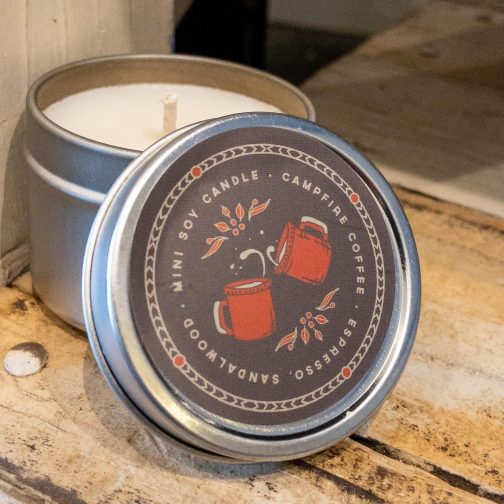 Good & Well Supply Co. Mini Travel Candles. Campfire Coffee.