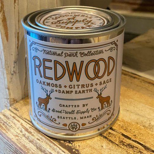 Half Pint Candles by Good & Well Supply Co. Redwood.