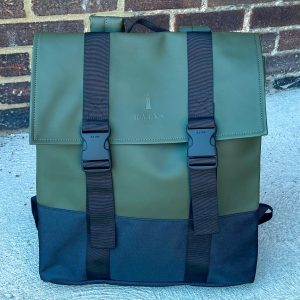 Rains Olive Buckle MSN Backpack