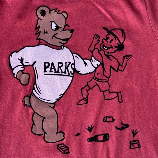 Protect Your Parks Tee By Good & Well Supply. Back View.