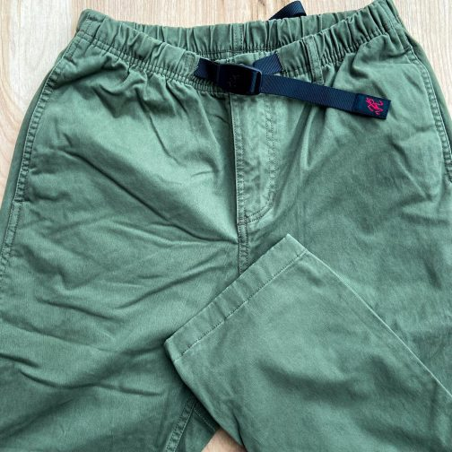Gramicci Olive NN Pants. Front view.