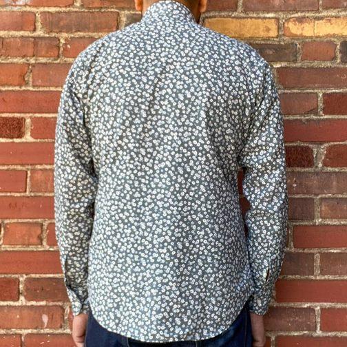 Panareha Paros Floral Shirt Grey. Back View.