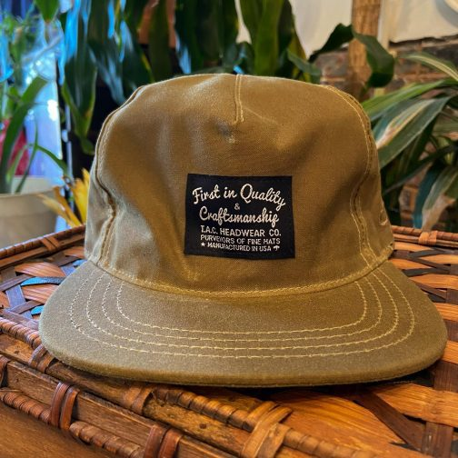 The Ampal Creative Wax Khaki Snapback Hat