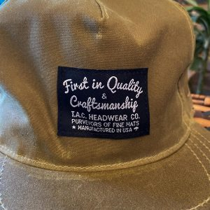 The Ampal Creative Wax Khaki Snapback Hat