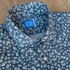 Panareha Paros Floral Shirt Grey. Collar View.