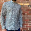 Panareha Paros Floral Shirt Grey. Front View.