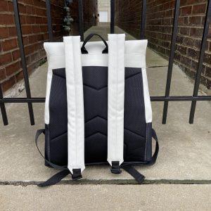 Rains White Buckle MSN Backpack