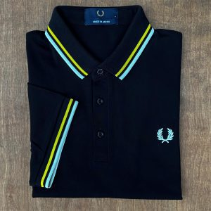 Fred Perry Made in Japan Black Luminous Polo Shirt